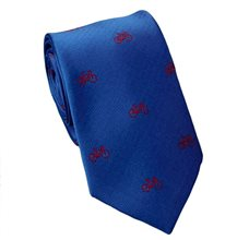 Royal Blue Teenager's Tie Bicycles