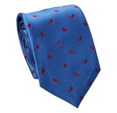 Royal Blue Teenager's Tie with Red Paisley
