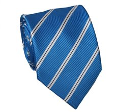 Royal Blue Teenager's Tie with Stripes