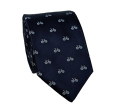 Dark Blue Bicycles Teenager's  Tie