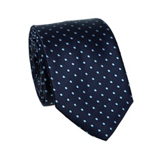 Dark Blue Teenager's Tie with Dots