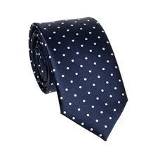 Dark Blue Teenager's Tie with White Dots
