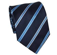 Dark Blue Teenager's Tie with Royal Blue Stripes