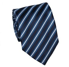 Dark Blue Teenager's Tie with Blue Stripes