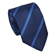 Blue Teenager's Tie with Grey Stripes