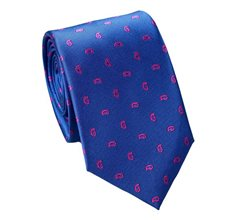 Royal Blue Teenager's Tie with Pink Paisley