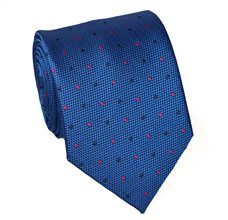 Royal Blue Teenager's Tie with Dots