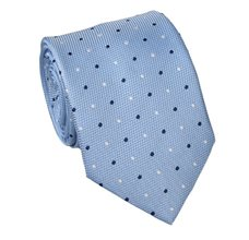 Sky Blue Teenager's Tie with Dots