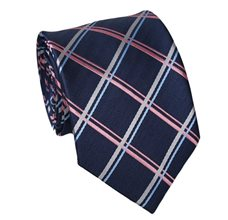 Blue and Pink Teenager's Tie with Tartan