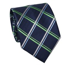 Blue and Green Teenager's Tie with Tartan