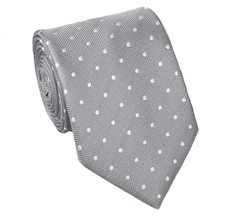 Grey Teenager's Tie with Dots