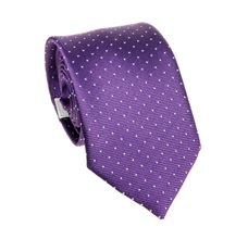 Purple Teenager's  Tie with White Dots