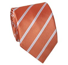 Orange Teenager's Tie with Stripes
