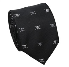 Black Teenager´s Tie with Skulls