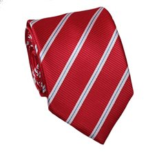 Red Teenager's Tie with Stripes