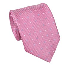 Pink Teenager's Tie with Dots