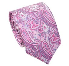 Pink Teenager's Tie with Paisley