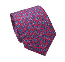 Red Silk Teenager's Tie with Paisley