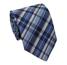 Blue Teenager's Tie with Tartan