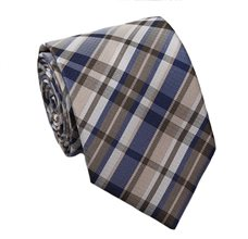 Beige Teenager's Tie with Tartan