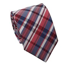 Red Teenager's Tie with Tartan