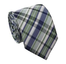 Green Teenager's Tie with Tartan
