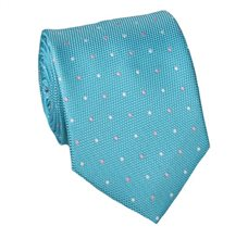 Turquoise Teenager's Tie with Dots