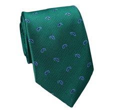 Green Teenager's Tie with Blue Paisley