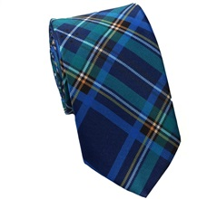 Blue and Green Tartan Tie