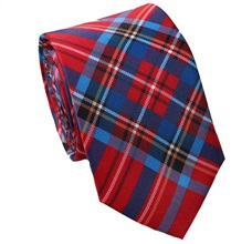 Blue and Red Tartan Tie