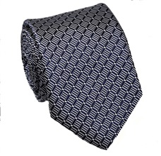 Deep Blue Pattern Tie