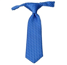 Royal Blue Baby's Tie with Cashmere
