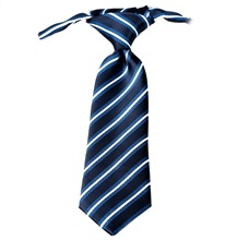 Dark Blue Stripes Baby's Tie