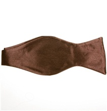 Brown Self Bow Tie