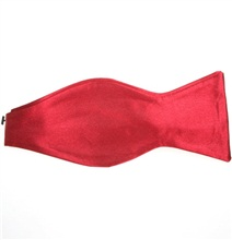Red Self Bow Tie