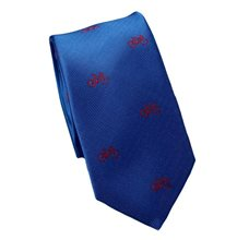 Royal Blue Slim Tie with Bicycles