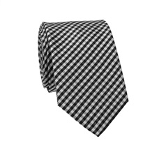 Black and White Checked Slim Tie