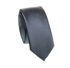 Dark Grey Slim Tie