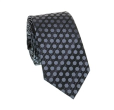 Dark Grey Dots Slim Tie