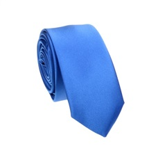 Royal Blue Slim Tie and Pocket Square