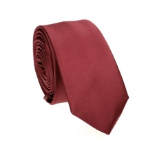 Burgundy Slim Tie and Pocket Square