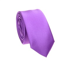 Purple Slim Tie and Pocket Square