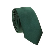 Dark Green Slim Tie and Pocket Square
