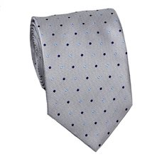Grey Tie with Dots