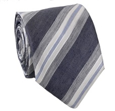 Grey Stripes Silk Tie
