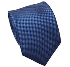 Blue and Black Jacquard Natural Silk Tie