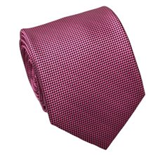 Fucsia and Black Jacquard Natural Silk Tie