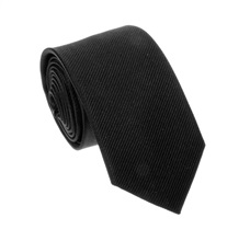 Black Jacquard Natural Silk Tie