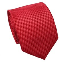 Red Jacquard Natural Silk Tie
