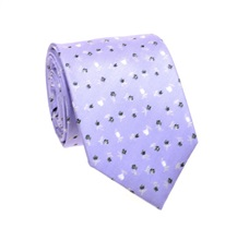 Mauve Tie with Grey Flowers